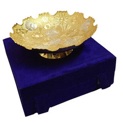 Brass Antique Design Glossy Gold and Silver Bowl Set