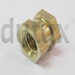 Double Hex Brass Insert