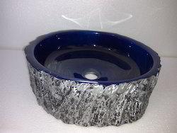 Tronco  Blue Resin Bowl