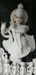 Smiling Shree Krishna Marble Sculpture