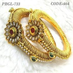 Designer Antique Stylish Polki Bangles