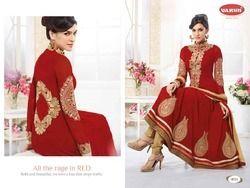 Semi Stitched Anarkali Suit