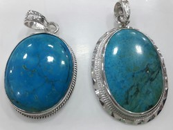 Turquoise Stone With Silver Penal