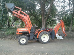 Front Loader & Backhoe With 22hp Tractor