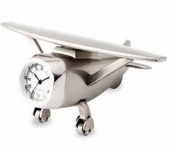 Metal Desktop Aeroplane Clock