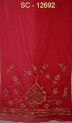 Georgette Embroidery Stoles