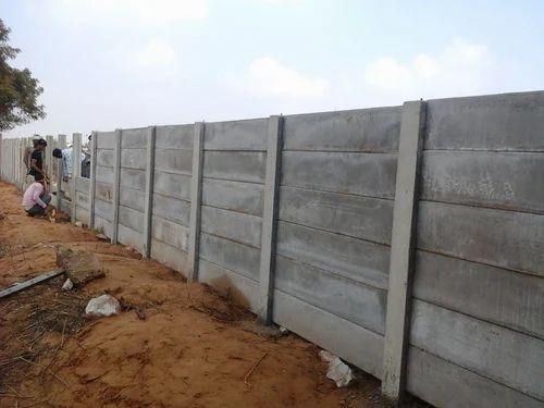 Farmhouse Boundary Wall Low Cost Precast Concrete