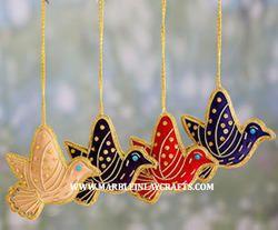 Christmas Hanging Ornaments Bird Shapes