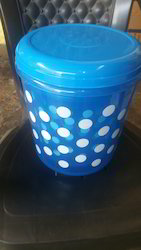 Plastic Fulka Dotted Printed Container Set
