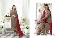 Designer Straight Georgette Salwar Suit