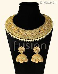 Traditional Antique Indian Wedding Necklace Set