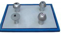 Rivets Set of Four Metal Model