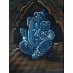 Painting Of Ganesha Sitting