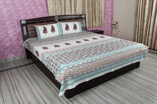Superior Block Print Cotton Bed Sheet