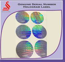 Genuine Serial Number Custom Security Holographic Labels