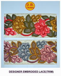 Parsi Multi Embroidered Lace