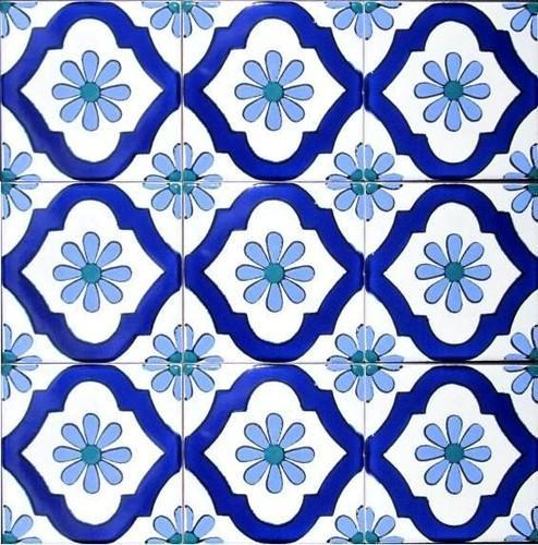 Ceramic painted tiles
