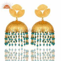 Turquoise Beads Earrings