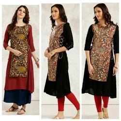 Kalamkari Designer Layered Kurta