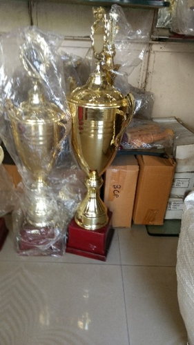 Big Trophy Cup Cristal Gold Plated Manufacturer From Pune