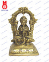 Lord Laxmi Sitting Statue With Ring