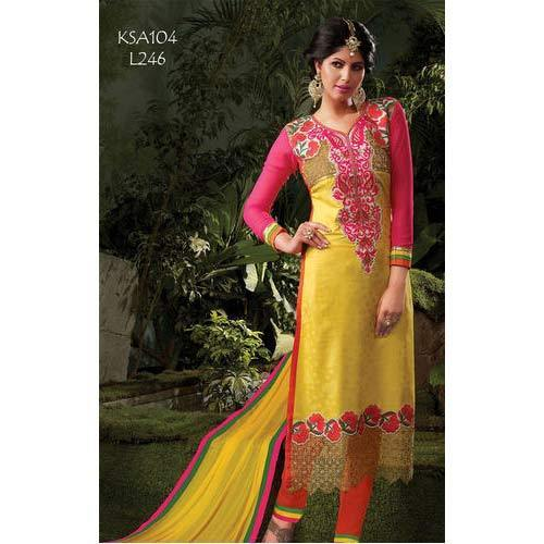 Indian Embroidery Cotton Suit