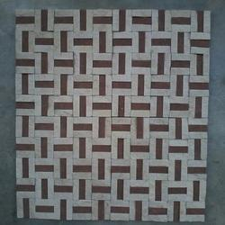 Mint Red Mosaic Tile