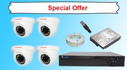 Hawksi 1.3 MP Dome Cameras Kit