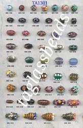 Cone & Oval Shape Glass Beads