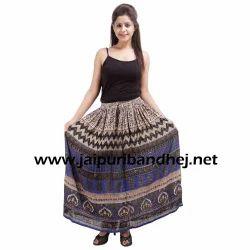 Women Rayon Long Skirt