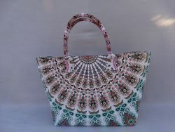 Twin Mandala Cotton Bag