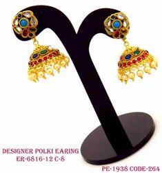 Fancy Designer Multistone Jhumka