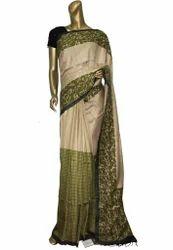 Handloom Kantha Stitched Saree
