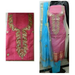 Pink Gota Patti Work Suit