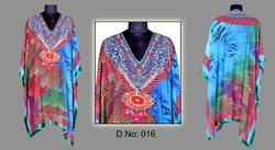 Red Embroidered Ladies Kaftan