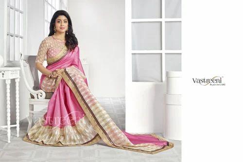 Pink & Gold Casual Saree