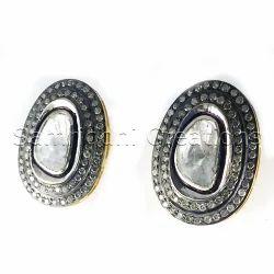 Diamond Polki Flat Rose Cut Earring