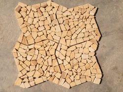 Yellow Crazy Pattern Mosaic Tile