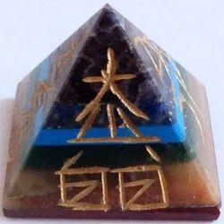 Seven Chakra Reiki Symbol Pyramid