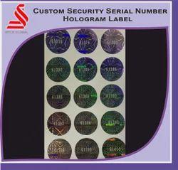 Custom Serial Number Hologram Label
