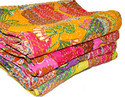 Tropical Kantha Bedspread Mix Wholesale Lot Tropicana Throw