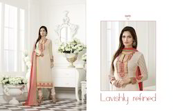 Designer Straight Georgette Suit