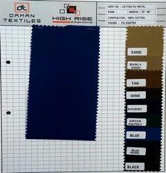 Cotton PU Metal Fabric
