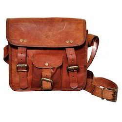 Junkyard Leather Messenger Bag- Daxton