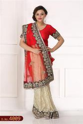 Designer Hand Embroidered Saree