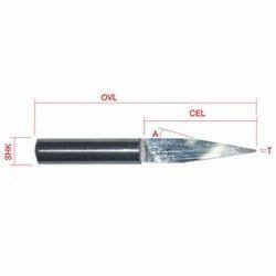 long cel flat bottom engraving tool