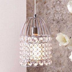Osmond Chrome Finish Crystal Pendant Lamp