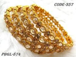 Designer Gold Plated Fancy Bangles