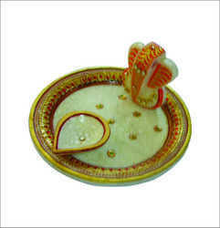 Ganesha Marble Pooja Thali