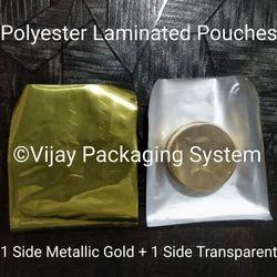 Metallic Gold Polyester Laminated Pouches